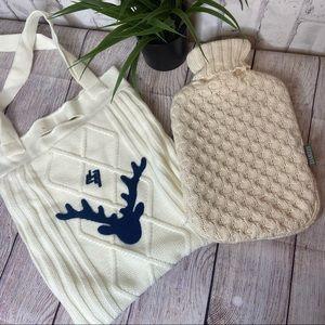 NWOT bundle hot water and L'Occ knit bag